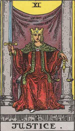 Tarot Card by Card: Justice - Tarot Card Meanings