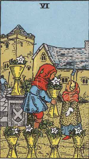 Six of Cups - Tarot Card Meanings - Tarot Card by Card