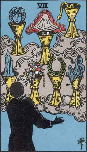Seven of Cups - Tarot Card Meanings - Tarot Card by Card