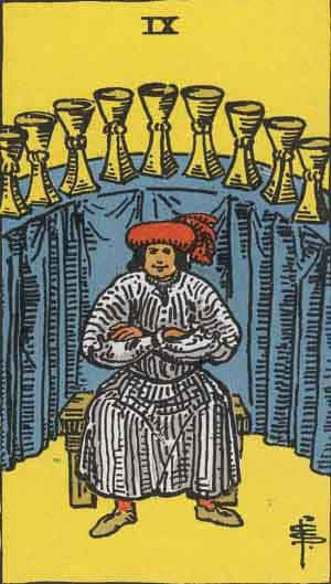 Nine of Cups - Tarot Card Meanings - Tarot Card by Card