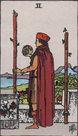 Tarot Card by Card: Two of Wands - Tarot Card Meanings