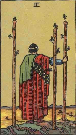 Tarot Card by Card: Three of Wands - Tarot Card Meanings