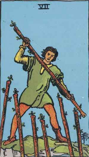 Tarot Card by Card: Seven of Wands - Tarot Card Meanings