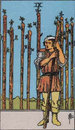 Tarot Card by Card: Nine of Wands - Tarot Card Meanings
