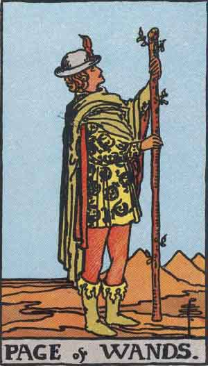 Tarot Card by Card: Page of Wands - Tarot Card Meanings