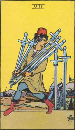 Seven of Swords - Tarot Card Meanings