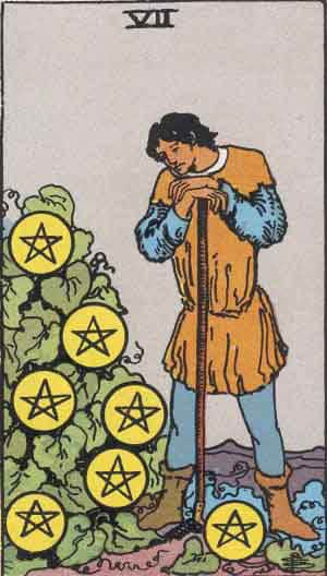 Tarot Card by Card – Seven of Pentacles