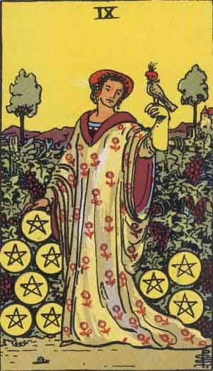 Tarot Card by Card – Nine of Pentacles