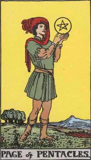 Tarot Card by Card – Page of Pentacles