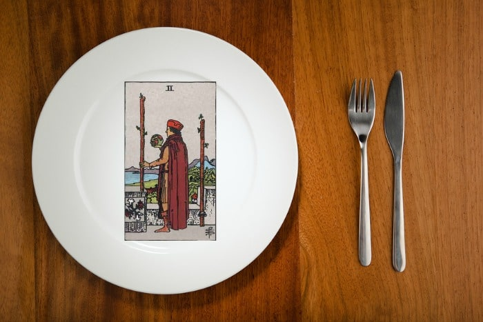 two of wands tarot by the mouthful