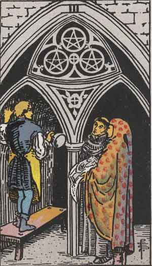 which tarot cards indicate cheating three of pentacles
