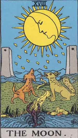 which tarot cards indicate cheating the moon