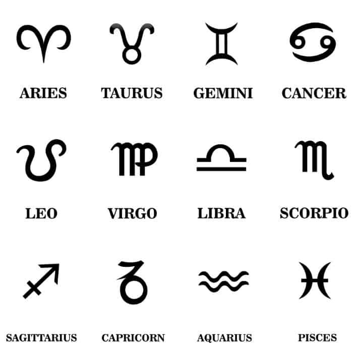 star school zodiac symbols