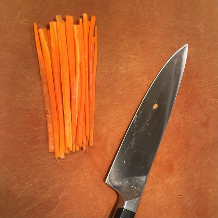I'm feeling like Brienne of Tarth in the kitchen after my knife skills class!