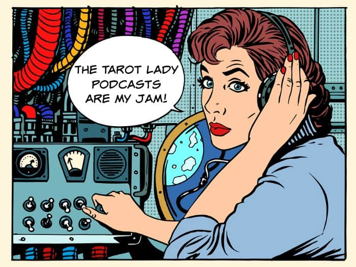 The Tarot Lady Podcast page - with podcasts for tarot lovers and tarotpreneurs.