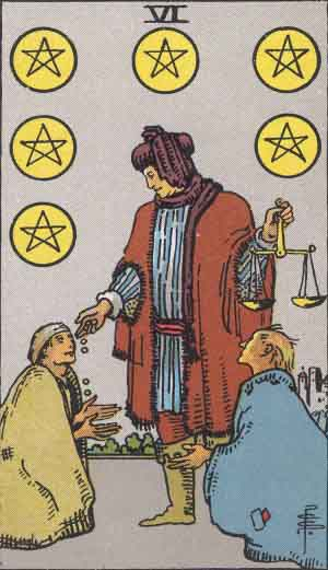 Which tarot cards indicate wealth? Six of Pentacles