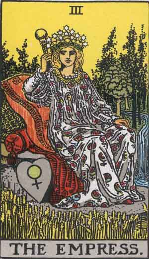 Which tarot cards indicate wealth? The Empress