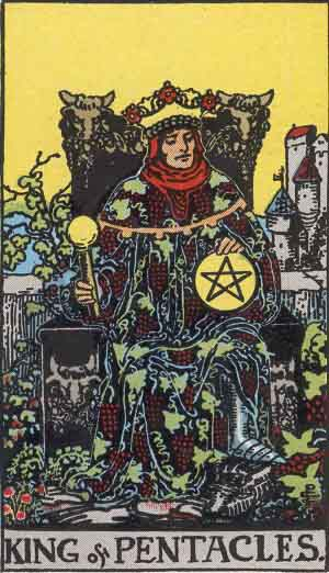 Which tarot card indicates wealth? King of Pentacles