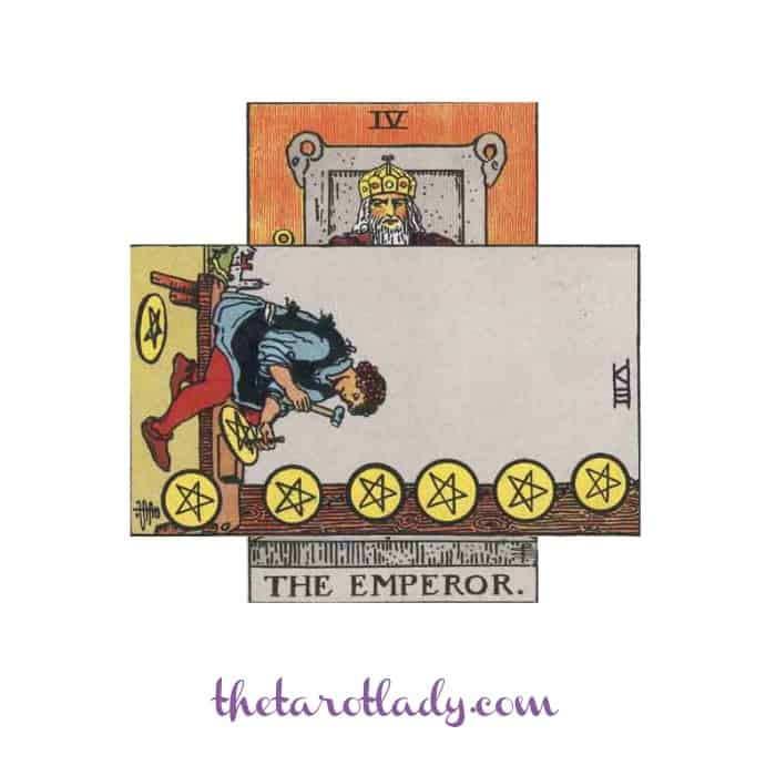Breaking Down the Celtic Cross - Mini Cross Emperor with Eight of Pentacles