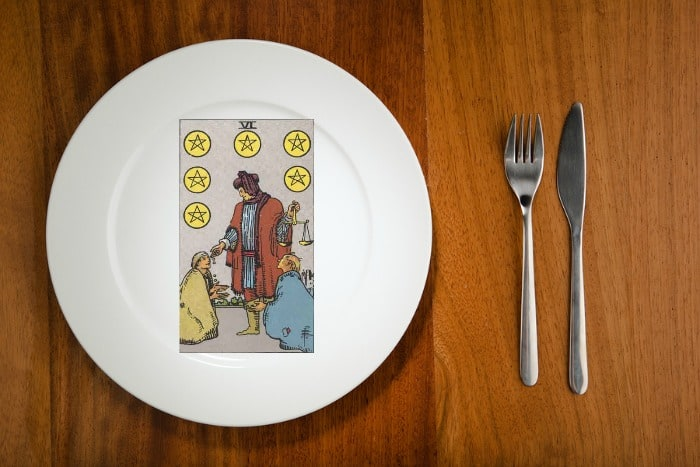 Tarot by the Mouthful - Six of Pentacles