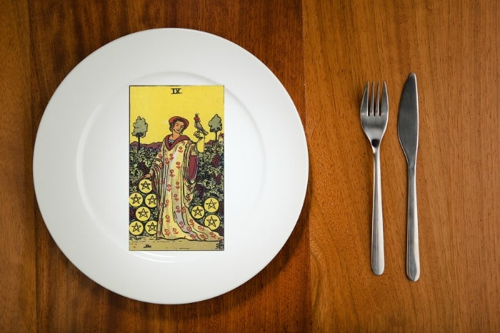 Tarot by the Mouthful - Nine of Pentacles