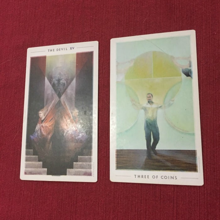 Tarot Spread Test Drive - Tarot Seed 2-Card Bad Mood Spread