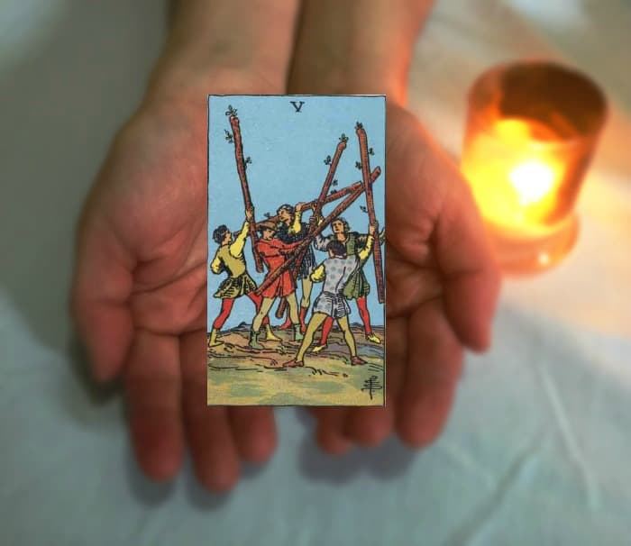 Tarot Advice - Guidance in Every Card: Five of Wands