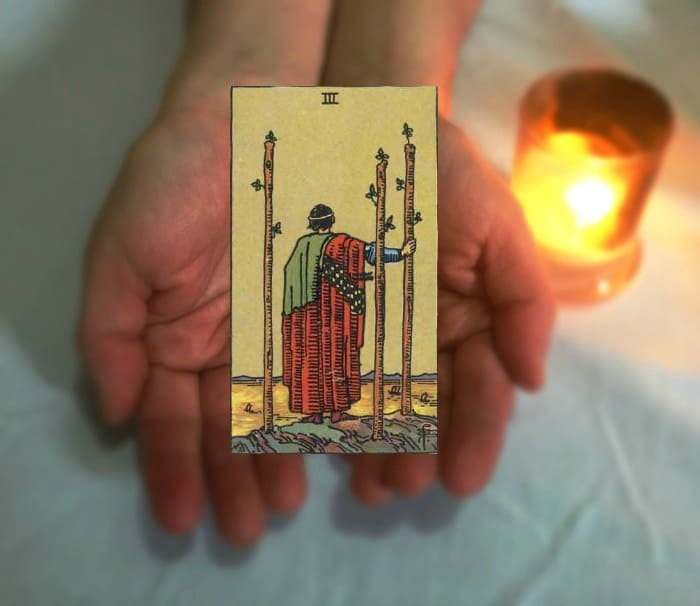 Tarot Advice - Guidance in Every Card: Three of Wands