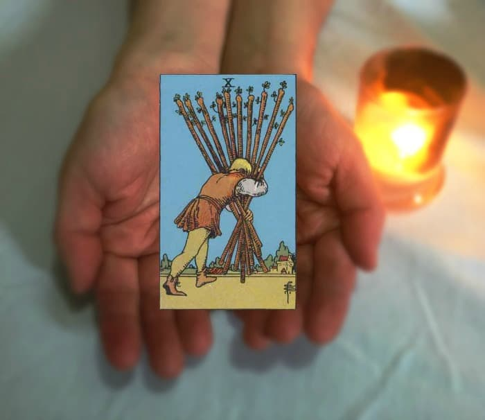 Tarot Advice - Guidance in Every Card: Ten of Wands