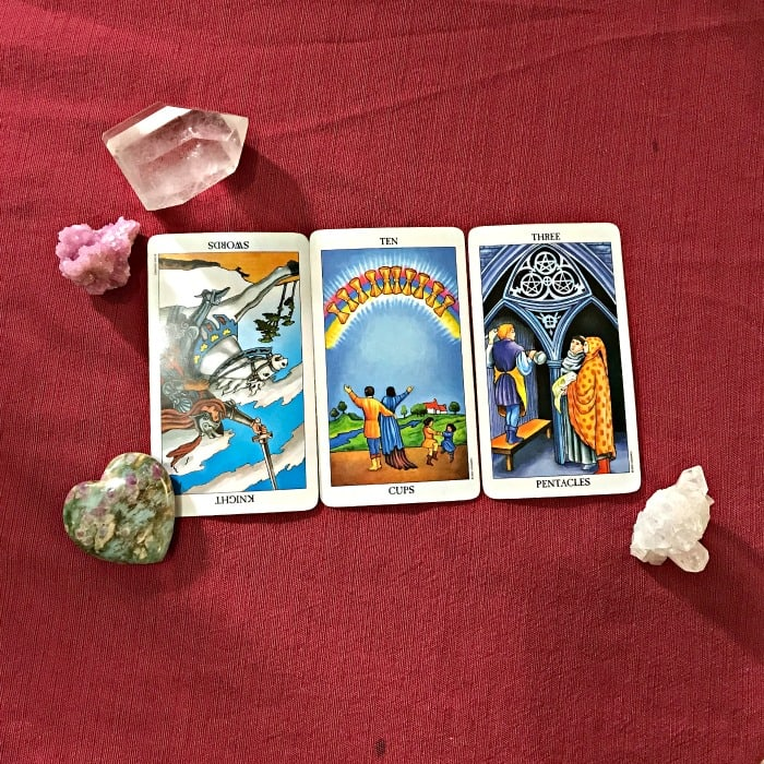 Tarot Spread Test Drive - What you need to know, grow, and let go spread.