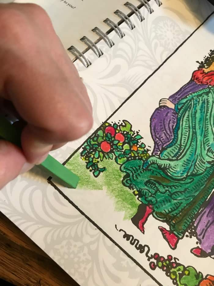 How to Bling The Tarot Coloring Book - Prismacolor Colored Pencils - Art Stix coverage