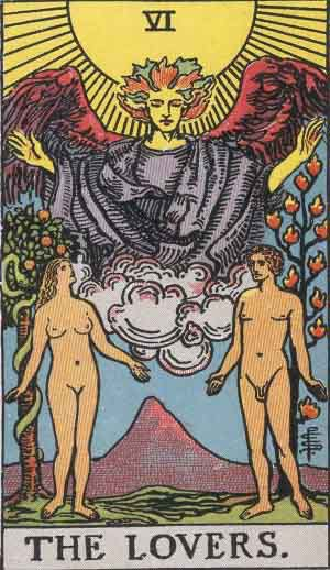 Which tarot cards indicate sex?