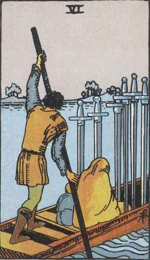 Which tarot cards indicate travel? Six of Swords