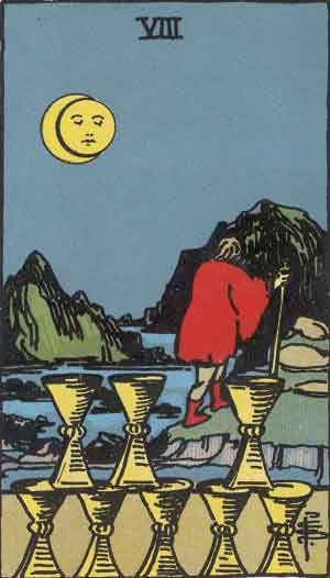 Which tarot cards indicate travel? Eight of Cups