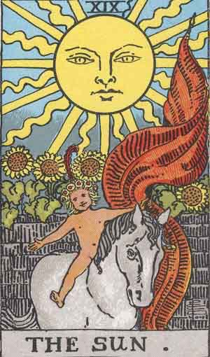 Which tarot cards indicate travel? The Sun