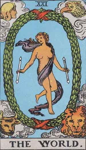 Which tarot cards indicate travel? The World