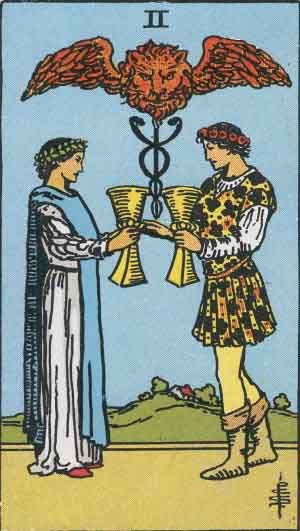 Tarot Card by Card: Two of Cups - Tarot Card Meanings