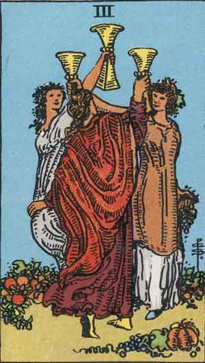 Tarot Card by Card: Three of Cups  - Tarot Card Meanings