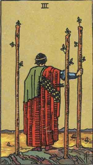 Tarot Card Meanings - Three of Wands