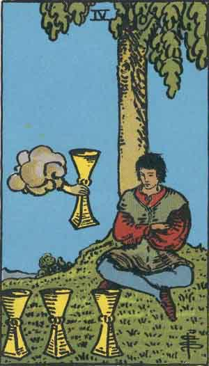 Tarot Card by Card: Four of Cups - Tarot Card Meanings
