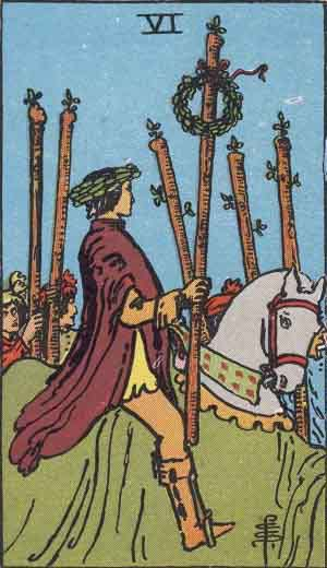 Tarot Card Meanings - Six of Wands