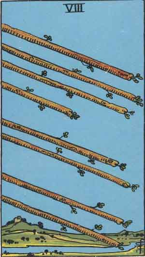 Tarot Card Meanings - Eight of Wands