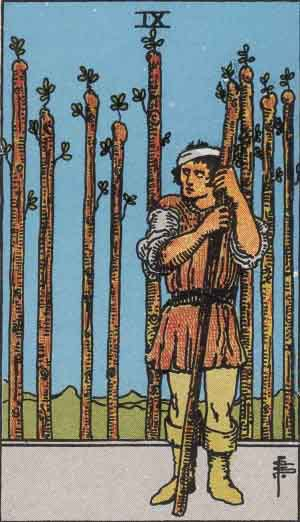 Tarot Card Meanings - Nine of Wands