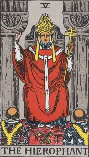 Tarot Card Meanings - The Hierophant