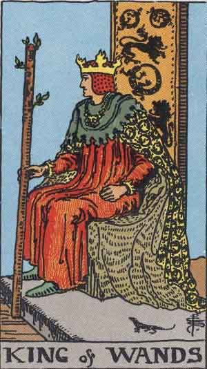Tarot Card Meanings - King of Wands