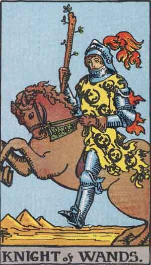 Tarot Card Meanings - Knight of Wands