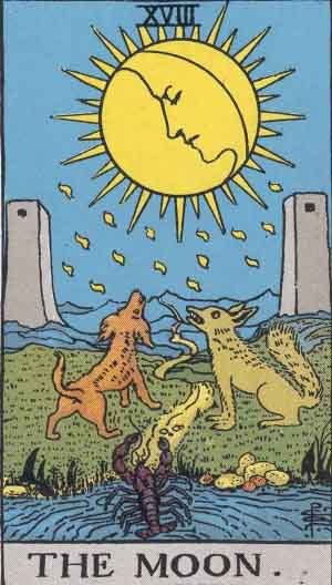Tarot Card Meanings - The Moon