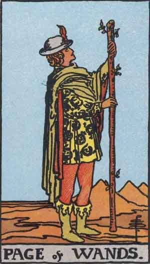 Tarot Card Meanings - Page of Wands