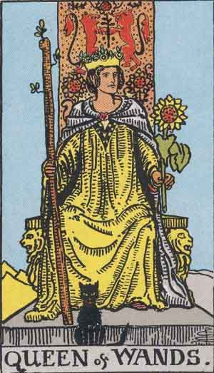 Tarot Card Meanings - Queen of Wands