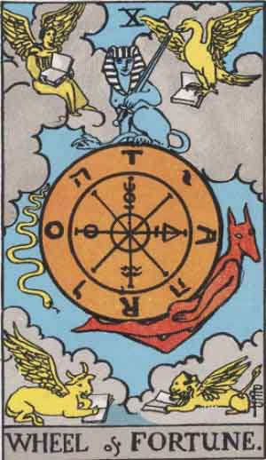 Tarot Card Meanings - The Wheel of Fortune - Tarot Card by Card